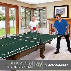 Table Tennis Conversion Top Ping Pong Official Assembled Folding Net Green