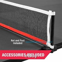 Table Tennis Conversion Top Portable Folding Ping Pong Indoor Mid Size Game Room