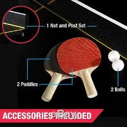 Table Tennis MD Sports Official Size 15mm 4 Piece Indoor Accessories Included