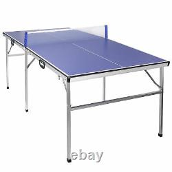 Table Tennis Ping Pong Table Indoor/Outdoor With Paddle Great for Small Spaces
