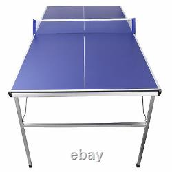 Table Tennis Ping Pong Table With Paddle Great for Small Spaces Indoor/Outdoor