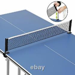 Table Tennis Ping Pong Table for Small Spaces and Apartments Mini Size