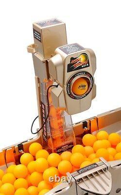 Table Tennis Robot Training Machine WithCatch Net&Wireless Remote 100 Balls Top V
