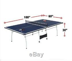 Table Tennis Sports Official Size Professional Fold Up Space Saving Paddle Balls