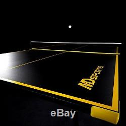 Tennis Ping Pong Table Sports Foldable Black Yellow Game Play Table Paddle Balls