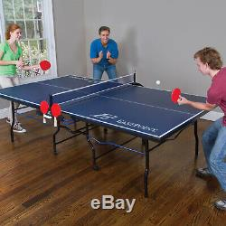 Tennis Table Ping Pong Foldable Indoor Sport Play Fun Game 18mm Top 2-Piece