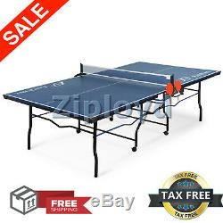 Tennis Table Ping Pong Foldable Outdoor Sport Play Fun Game 18mm Top 2-Piece