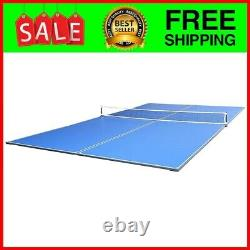 Tetra, 4Pcs Ping Pong Table Top for Pool Table, Includes Ping Pong Net Set