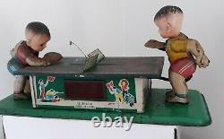 Vintage Tin/ Celuloid Table Tennis/ ping pong Toy