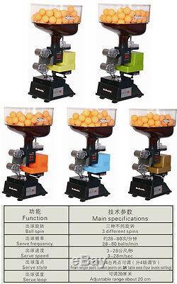 Y&T ball machine ping pong table tennis robot B5 remote, 2 wheels, DIGITAL display