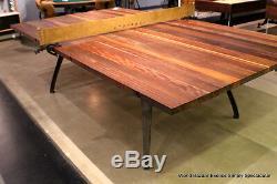 108 Ping-pong Industriel Sport Plate-forme De Tennis De Table Plate-forme En Chêne Chêne Noyer Fer Cuir
