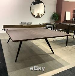 108 Rustique Industriel Moderne En Bois Ping-pong Salle À Manger Table De Conférence En Cuir Net