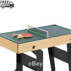 16 En 1 Table Pliante Junior Jeu Multi Avec Accessoires Tennis De Table Salle De Jeu