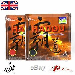 2 X Palio Hadou Biotech Tennis De Table Avec Une Éponge Ittf Caoutchoucs Approuvé 42-44
