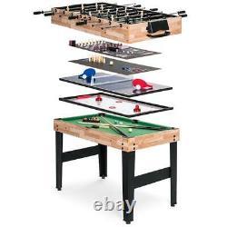 2x4ft 10-en-1 Combo Jeu Jeu Jeu Ensemble Piscine Foosball Ping Pong Hockey Bowling Chess
