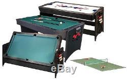 3 En 1 Gld Pockey Combinaison Table De Jeu Billard, Air Hockey, Table De Ping Pong