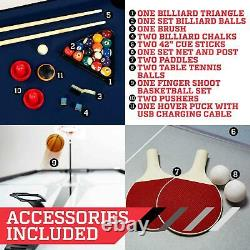 4 En 1 Swivel Combo Jeu De Table Hockey Finger Basketball Billard Tennis De Table