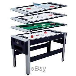 4-en-1 Combo Arcade Jeu Table De Ping-pong Hover Air Hockey Piscine Bowling Ping-pong