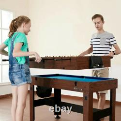 54 Pouces 4-in-1 Combo Table De Billard Foosball Tennis De Table Billard Air Hockey Nouveau