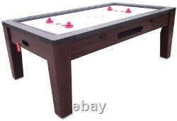 6 En 1 Table Combo Game Poolair Hockeyping Pongroulettepokerdining Walnut