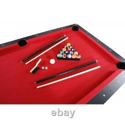 7 'piscine Table De Tennis Jeu Ping Pong, Table À Manger Avec Bancs, Multi-fonction