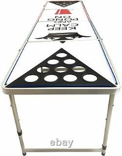 8 Pieds Bière Pong Table En Aluminium Portable Pliant Parti Jeu Tailgate Pong On