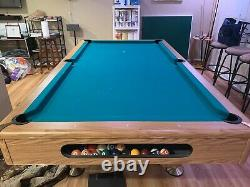 8 Table De Billard Feutre Vert De Ping-pong Hockey Commutateur Capot Supérieur Queues Slate