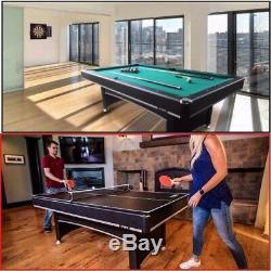 84 Billard Balls Cue Tennis Table Ping Pong De Table Paddles 2 En 1 Jeu