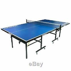 9ft Donnay Intérieur Extérieur De Tennis De Table De Ping-pong Bleu Taille Pleine Réglable