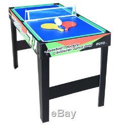 Activité D'intérieur Pour Enfants Avec Table De Jeu Multi-4 En 1 Avec Baby-foot De Billard