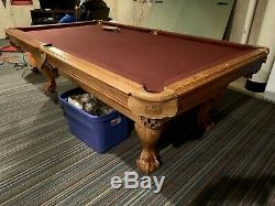 American Heritage Billard Table De Billard Pied Claw Avec Table De Ping-pong