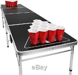 Beer Pong Portable Table -tailgate Football Parties Maison, Barcecue Durable Pliant