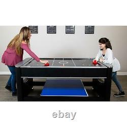 Billard De Table Multi-jeu + Hockey Air + Tennis De Table + Ensemble Complet D'accessoires