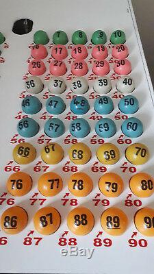 Bingo Balls Blower Boules De Bingo 38mm Balles De Tennis De Table Vintage Utilisé