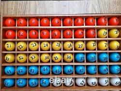 Bingo Blower Balls Rota Thro Bingo Balls 38mm Table Tennis Balls Vintage