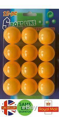 Blanc / Orange Balles De Tennis De Table De Ping-pong Jeu 40mm Nouveau Royaume-uni Vendeur 12 Paquet