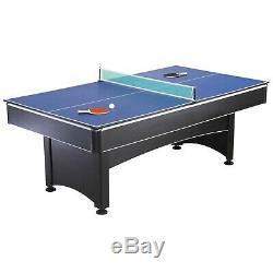 Bleu Produits Vague Hathaway Ng1023 Maverick 7 Ft. Table De Billard Avec Tennis De Table