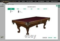 Brunswick 8' Allenton Table De Pool De Chestnet, Sommet De Ping-pong Et Peuplement De Cue
