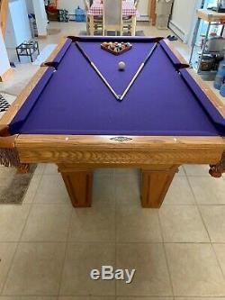 Brunswick Slate Table De Billard Haut 7ft / Ping Pong Top