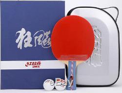 Dhs Hurricane # 2 No. 2 Paddle / Batte De Tennis De Table, Raquette De Pingpong, Nouveau, Aud