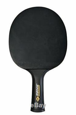 Donic-schildkrt Raquette De Ping-pong Carbotec 7000, Manche Concave, Blister, Noir