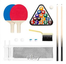 Enfants 2 En 1 Ping Pong Billard Billard Set Portable Pliant Mini Jeu D'arcade