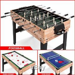Ensemble De Table De Jeu Bcp 2x4ft 10-en-1 Avec Billard, Baby-foot, Ping-pong, Etc.