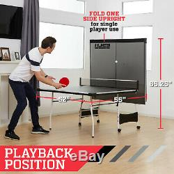 Espn Taille Moyenne Pliante De Tennis De Table Avec Raquettes Et Balles