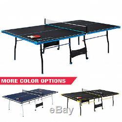 Extérieur / Intérieur Tennis Ping Pong Black & Blue Tableau 2 Pagaies Et Couilles Inclus