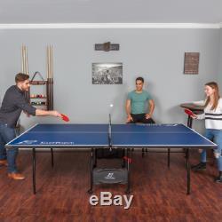 Extérieur Ping Pong Table Pliante Tennis De Table Intérieure Pleine Taille Officielle Avec Roulettes