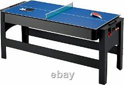 Fat Cat Original 3-en-1,6-ft. Flip Jeu De Table Air Hockey, Billard, Tennis De Table
