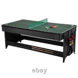 Fat Cat Original Pockey 3-en-1 Air Hockey, Billards, & Jeu De Tennis De Table (utilisé)