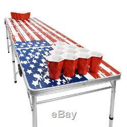 Gopong 8ft Intérieur Extérieur Pliant Bière-pong American Style Party Boisson