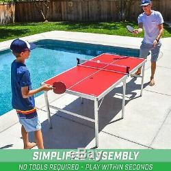 Gosports 6x3 Taille Moyenne De Ping-pong Jeu Jeu Intérieur / Extérieur Table Pliante